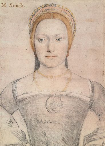 Portrait of Mary Zouche (Governess to the princesses Margaret and Mary Tudor.