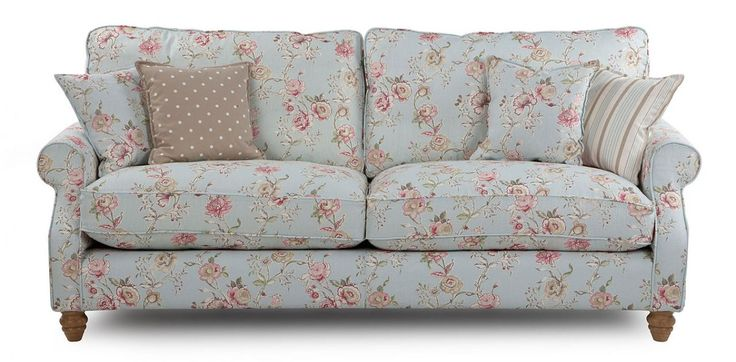 grand floral sofa country style for the home. Black Bedroom Furniture Sets. Home Design Ideas