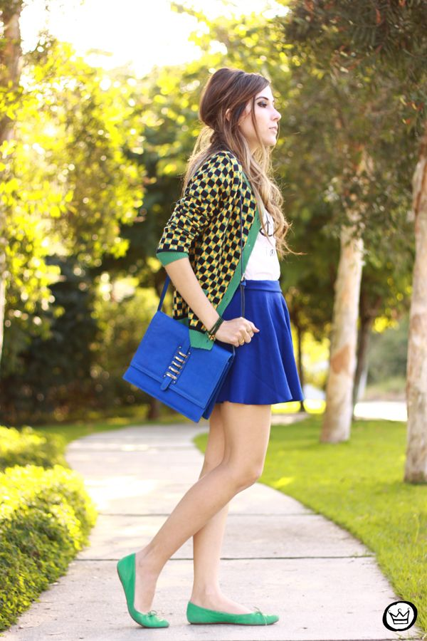 Blue skirt and green cardigan | Fashion, Edgy outfits, Outfits