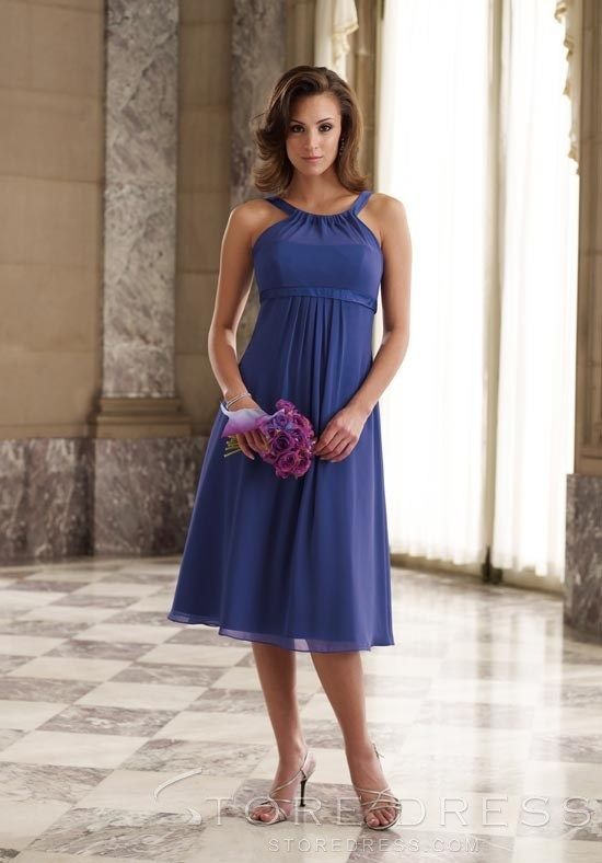 Lovely Fashionable Draped Empire Waist Knee length Strapless Bridesmaid Dress at Storedress