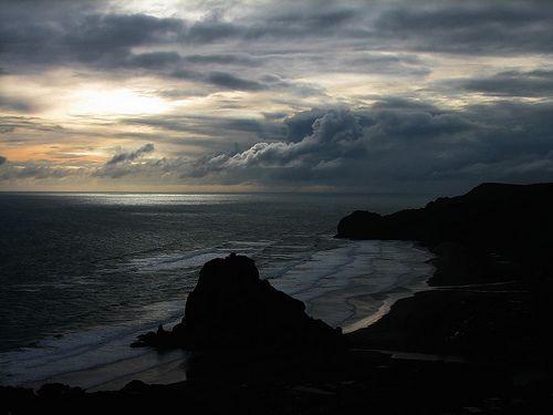 Piha Beach, New Zealand. Photography  by Melanie Morris, via Flickr