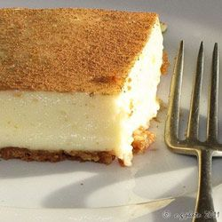 No-bake milk tart. Made with sweetened condensed milk.