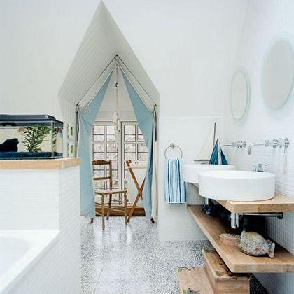 bathroom-oh ya!: Bathroom Design, Interior, Beach House, Nautical Bathrooms, Inspiration, Beach Bathroom, Bathrooms Decor, Bathroom Ideas, Sink