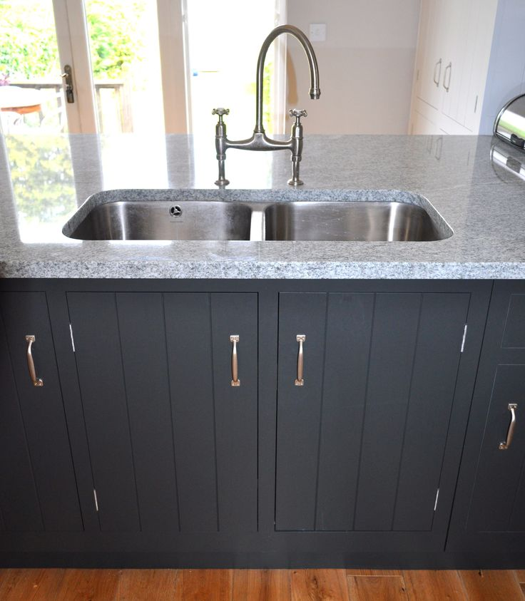 Off Black Cabinet Colour Teamed With Viscount White