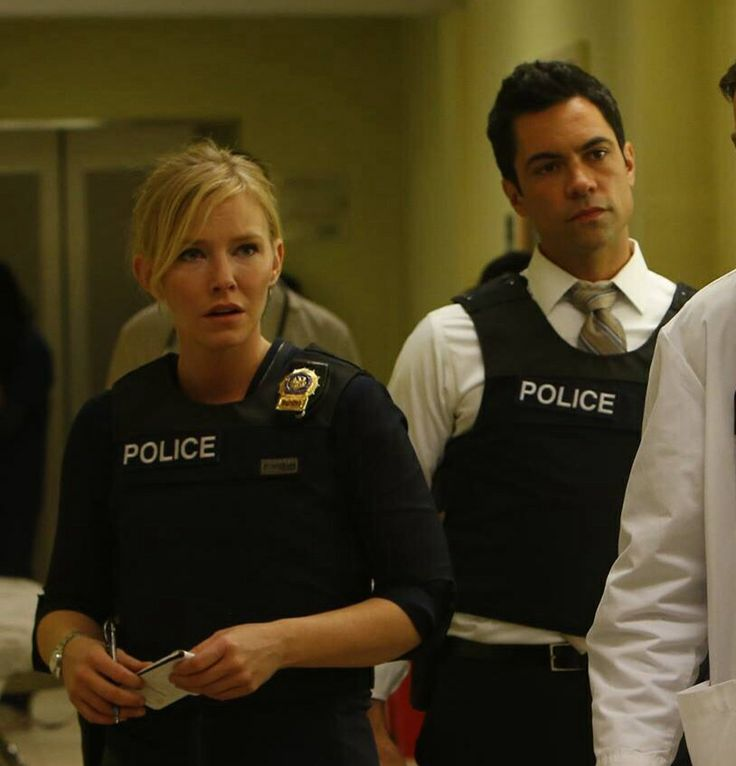Danny Pino as Nick Amaro with Amanda Rollins Law & Order: SVU