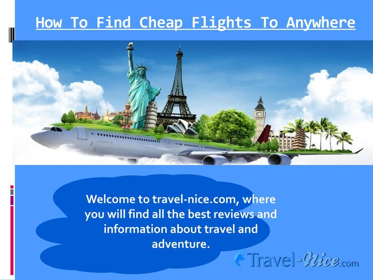 Try this site http://travel-nice.com/ for more information on How To Find Last Minute Flight Deals To Anywhere. These days, it has become easy to get a Cheapest Last Minute Flights To Anywhere in the world. Simply search for the websites offering discounted rates for virtually anywhere you wish to travel. If you have a low budget, you can get ample of options to book a trip. So spend your energy and time in exploring your choices and make the best of your hard earned money.