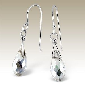Silver earrings with crystal beads. - ER-BD636/15428