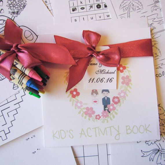 Check out this item in my Etsy shop https://www.etsy.com/uk/listing/265156055/wedding-activity-book-wedding-kid