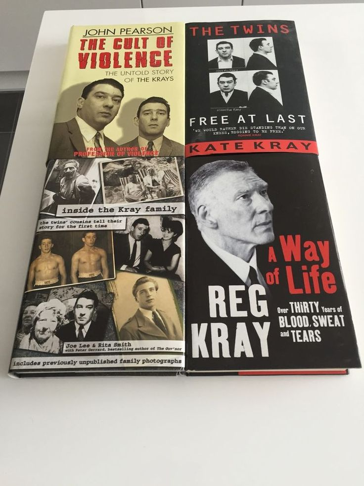Kray Twins. Selection of book titles.