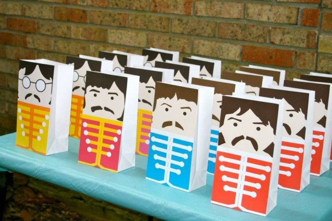 Beatles Birthday Party! Tons of cute decoration ideas.
