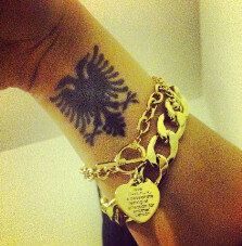 #TwoHeadedEale #Tattoo #Art #Black #Gold #Wrist #Shqipe #Albanian
