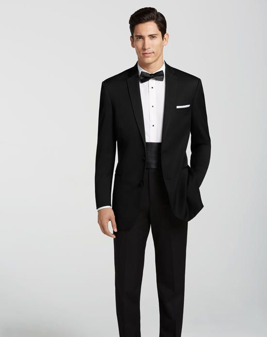 The Men's Wearhouse® BLACK by Vera Wang® Black Tuxedo Wedding Tuxedos + Suit photo