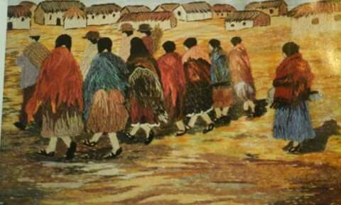 Una pintura en Crewel