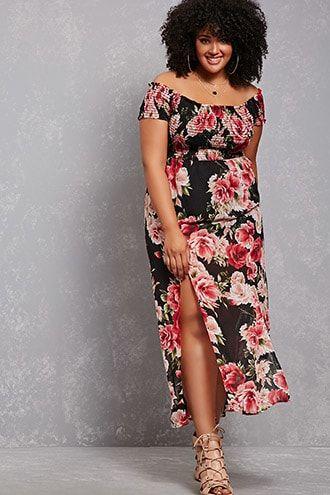 Plus Size Dresses for Summer - Plus Size Floral Maxi Dress (plus size)