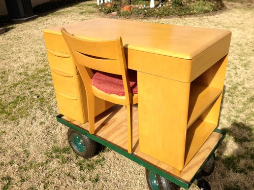 heywood wakefield student desk bookcase m 314 wheat chair ebay