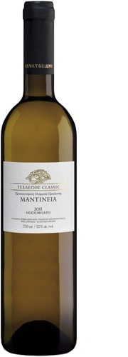 Name: Mantinia - Tselepos Classic  Origin - Type: Dry white wine - Protected Designation of Origin Mantinia  Grape Variety: 100% Moschofilero - Our price, DKK 132 (incl. moms)