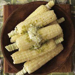 Garlic-Pepper ButterCorn Recipes, Green Pepp Butter, Butter Corn, Flavored Butter, Food, Butter Recipe, Sweets Corn Recipe, Butter Cans T Wait, Butter Saveur Com