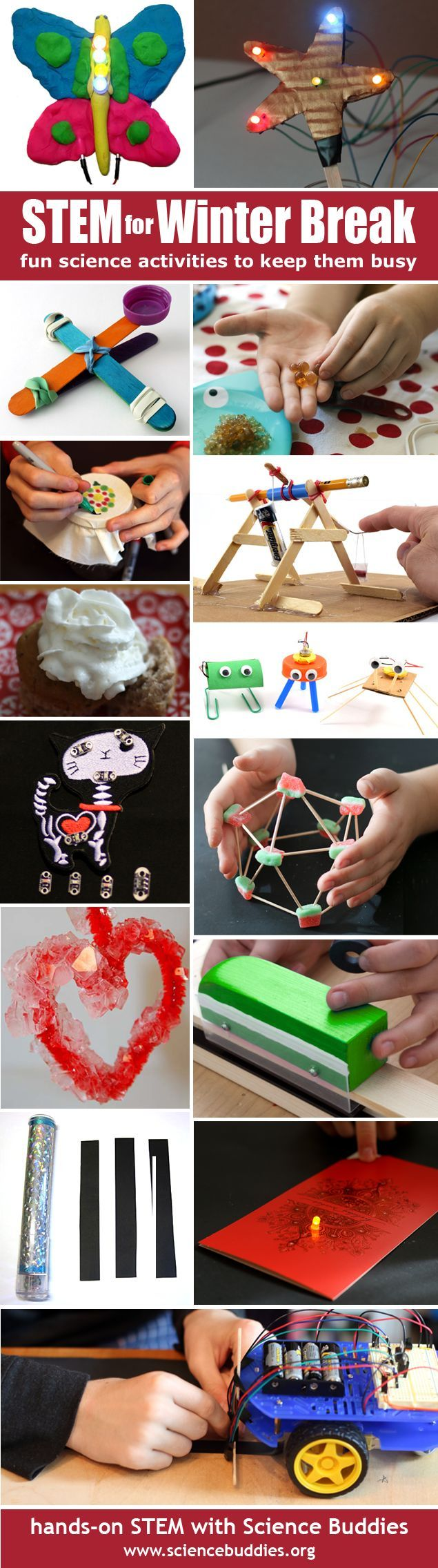 """STEM at Home for Winter Break""-- great science-themed ""to do"" options for Winter Break. [Science Buddies, http://www.sciencebuddies.org/blog/2016/12/stem-for-winter-break.php?from=Pinterest] #winterbreak #scienceprojects #STEM #homescience #familyscience #scienceactivities"