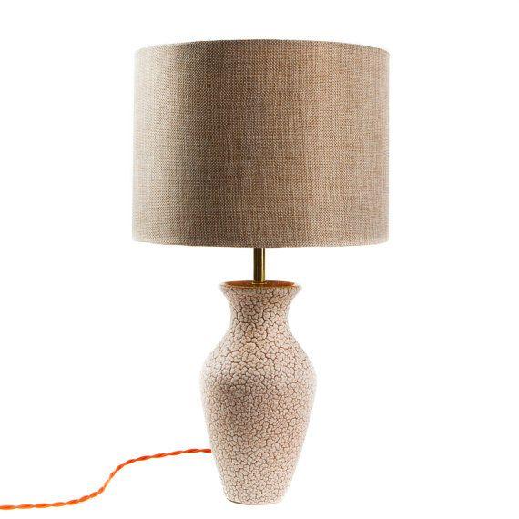 Vintage Jasba pottery lamp by TygerDesign on Etsy