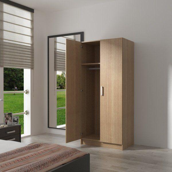 Este económico armario ropero FIRTS 2 puertas es la solución perfecta para tus problemas de espacio en el #dormitorio.