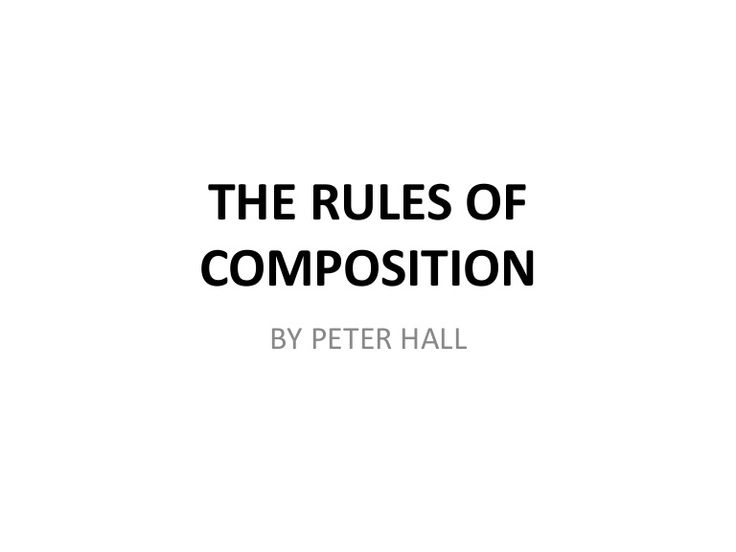 http://www.slideshare.net/wdpsorg/the-rules-of-composition-photography RULES OF COMPOSITION PHOTOGRAPHY