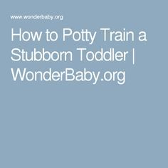 How to Potty Train a Stubborn Toddler | WonderBaby.org