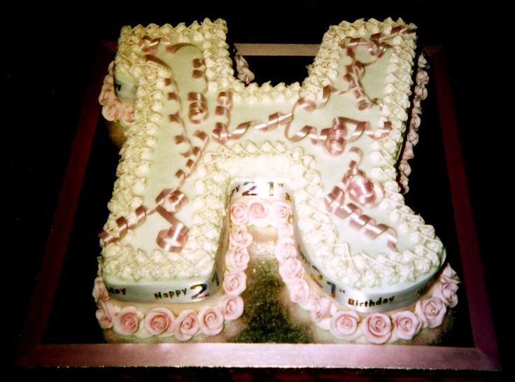 Alphabet letter h birthday cake my novelty