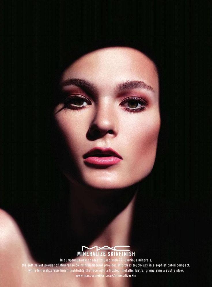 Irina Kulikova Gets Glossy in MAC Cosmetics Mineralize Ads