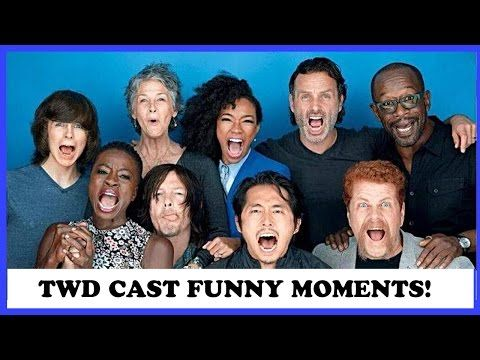 The Walking Dead Cast FUNNY Moments | 2017 - YouTube