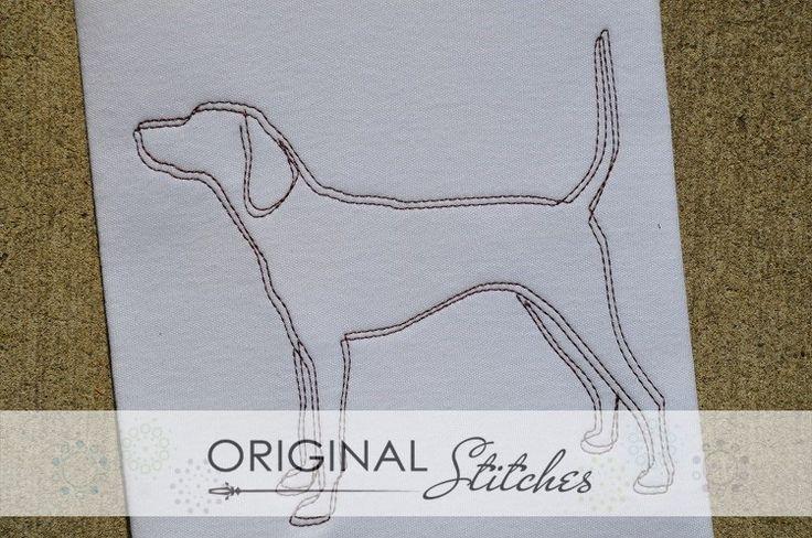 Coonhound - Quick Stitch, Machine Embroidery and Applique Designs Downloads | Original Stitches - Embroidery and Applique Design Store