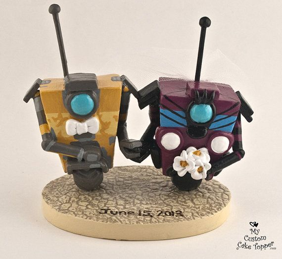 Custom Wedding Cake Topper Claptrap from by MyCustomCakeTopper