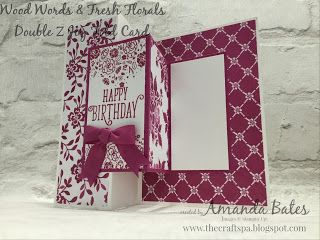 The Craft Spa - Stampin' Up! UK independent demonstrator : Wood Words Double Z Joy Fold card & the other US A...