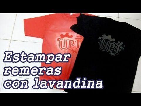 Estampar remeras con lavandina - YouTube