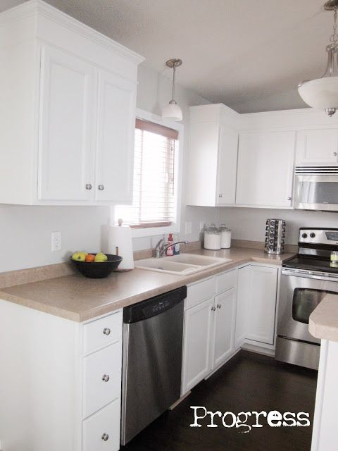 How to add height to top of cabinets with 1 x 6 mdf it for Best paint for mdf kitchen cabinets