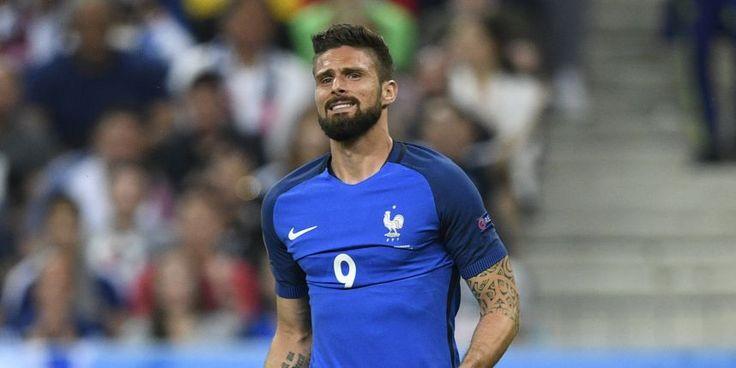 Olivier Giroud, l'avant-centre de l'équipe de France.