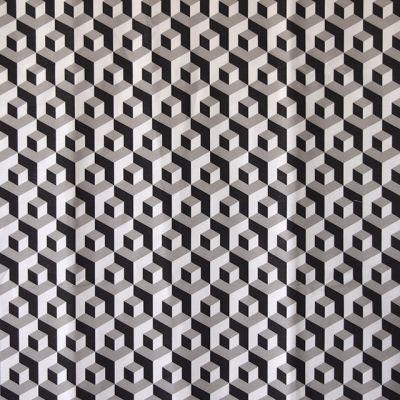 M :: Iván Meade - Cubo fabric in Carbon/Paloma/Crema #ivanmeade #fabrics