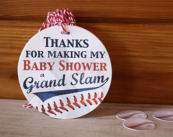 Baseball BABY SHOWER (36) Gift Tags - Party Favors