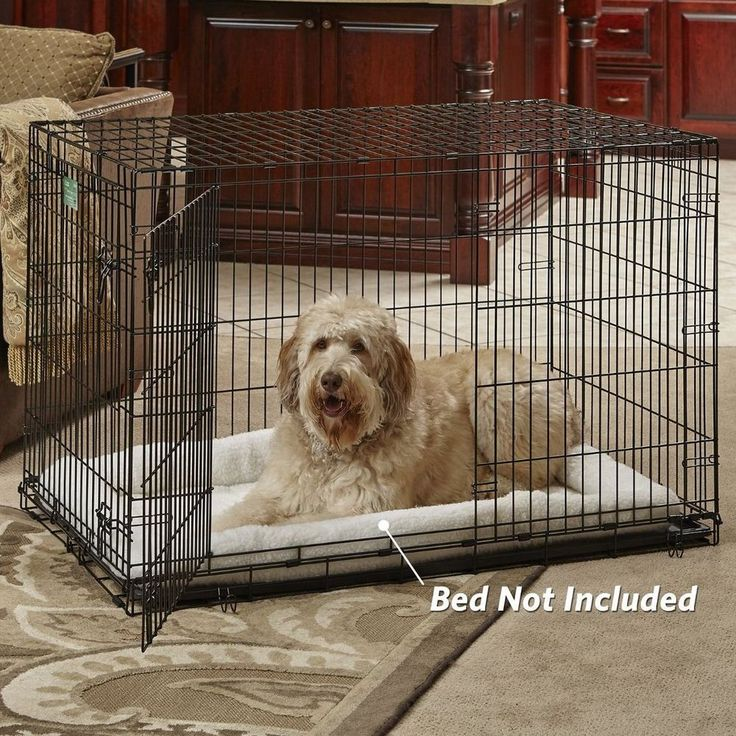 "XXL Dog Crate Extra Large Kennel Pet Cage House Folding 2 Door With Pan Tray 42"" #MidWestHome"