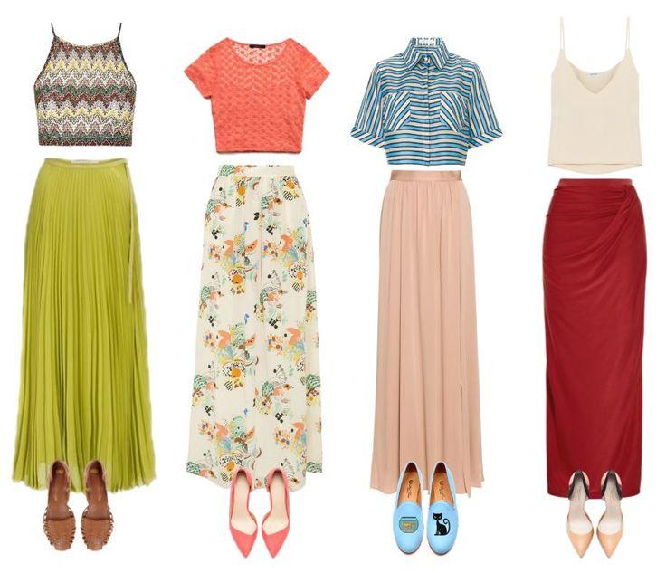 Długa spódnica na różne sposoby