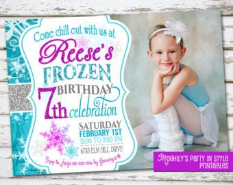 Frozen birthday party | Frozen Birthday Invitation with Pho to ...