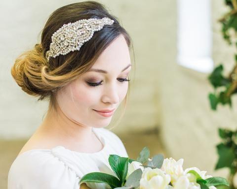 Embellished Applique Headband, Caroline 2