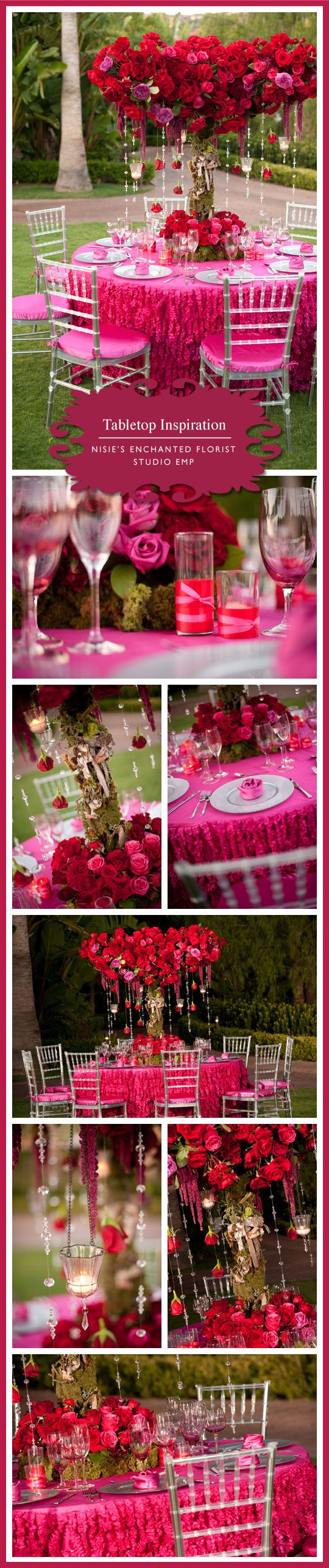 Deep pink flower and decor ideas