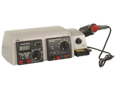 Soldering Station, Power Supply, and Digital Multimeter Combo at MCM Electronics