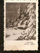 k. Old Latvia Holidays Greetings Happy New Year photo postcard - Winter Landscape view House Village | For sale on Delcampe