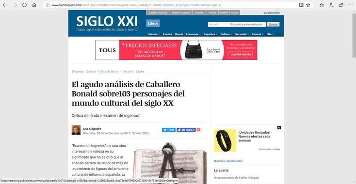 "Crítica de la obra ""Examen de ingenios"", de Manuel Caballero Bonald."