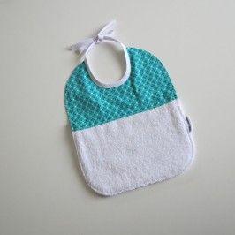 Bavoir bébé bi-matière