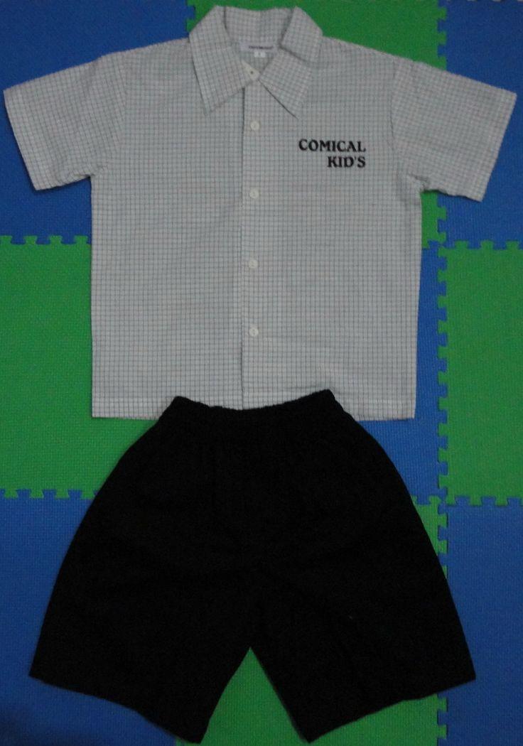Kemeja Lengan Pendek  Comical Kids (Fred & Bernard, size no 04) Berat 206 gr, Price Rp 90.000,-  Ukuran Kemeja Lengan Pendek: Panjang (atas – bawah) 45 cm Lebar (kiri – kanan) 40 cm Panjang lengan 16 cm  Ukuran Celana: Panjang (atas – bawah) 36 cm Diameter lingkar lubang kaki 23 cm For your information, please contact: Email: jjbigstore@yahoo.com YM: jjbigstore Path: Silvblue Shop Instagram & Twitter: @silvblue Line: silvblue Pin BB: 7E6975D4 SMS: 0818 0832 9022 WhatsApp 0896-2860-9094