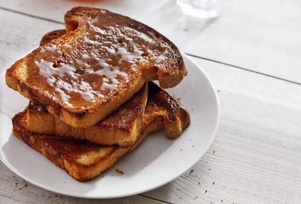 Cinnamon Toast with Butter and Honey. We never put honey on the ...