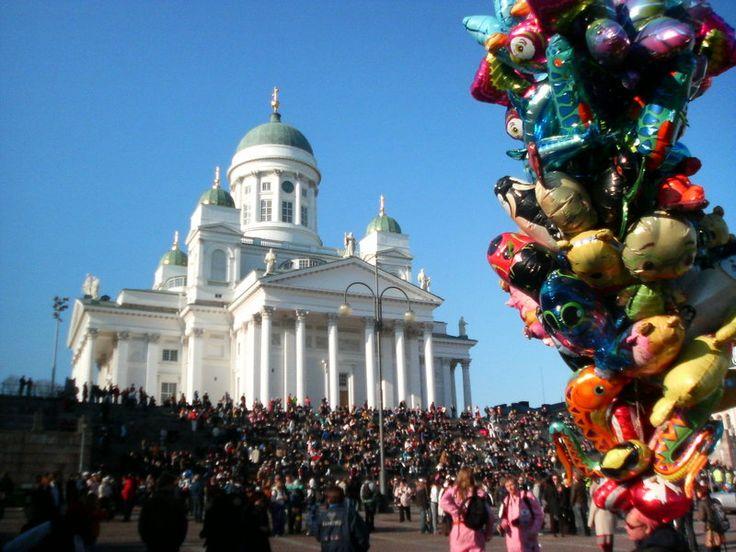 Vappu celebration in Helsinki