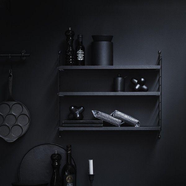 String Pocket Shelf - Black - Is To Me - 2